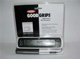 OXO GOOD GRIPS DIGITAL LEAVE IN MEAT THERMOMETER MADE IN USA NEW