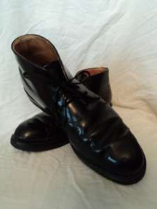 Vintage Mens RED WING chukka boots black 10 B