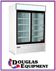 Master bilt MBGR48 S   2 Glass Door Merchandiser Refrigerator Cooler