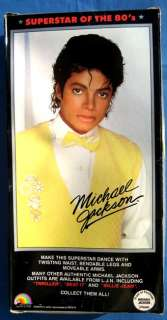 Michael Jackson 1984 LJN doll THRILLER costume NRFB never removed from