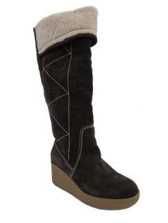Michael Kors Winter Brown Suede Wedge Platform Boot