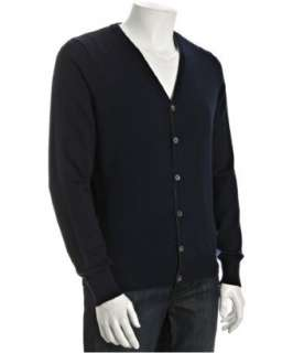 Cullen navy blue merino wool cardigan sweater