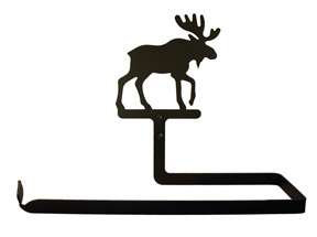Black Wrought Iron Wall Paper Towel Holder Rack MOOSE
