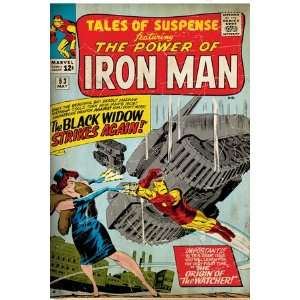 Marvel Comics Retro The Invincible Iron Man Comic Book Cover #53