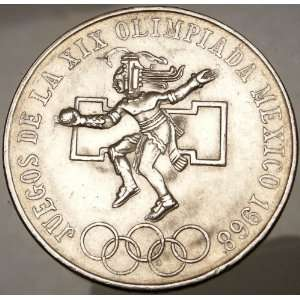 XIX Mexico City 1968 Huge SILVER Mexican Coin Eagle: Everything Else