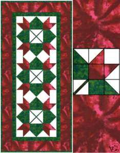 Christmas Tulip Table Runner QUILT KIT   Marcus Bros and RJR