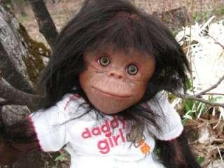 Lifelike Newborn Realistic Chimpanzee Monkey Chimp Baby Girl doll OOAK