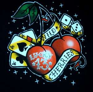 13 SHIRT ROCKABILLY PIN UP TATTOO CHERRY DICE ACE SPADES VEGAS