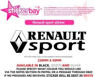 2X RENAULT SPORT STICKER DECAL CLIO 172 182 MEGANE 225