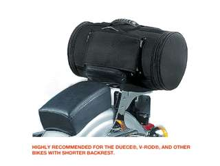 New T Bags Saddle roll luggage bag sissy bar harley daavidson tbu650
