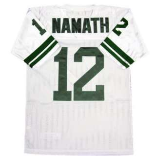 Namath #12 New York Jets White Sewn Throwback Mens Size Jersey