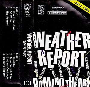 Domino Theory   Weather Report (Import Cassette 1984, TIG) in NM