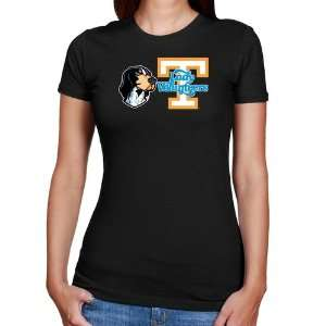 UT Vols T Shirt : Tennessee Lady Vols Ladies Black Smokey