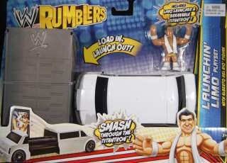 DEL RIO W/ LAUNCHIN LIMO PLAYSET   WWE RUMBLERS TOY WRESTLING FIGURE